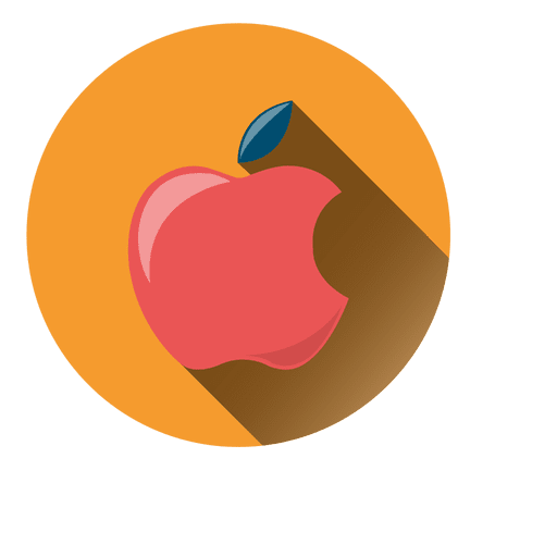Apple Drop Shadow Circle Icon