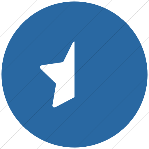 Flat Circle White On Blue Bootstrap Font Awesome Star