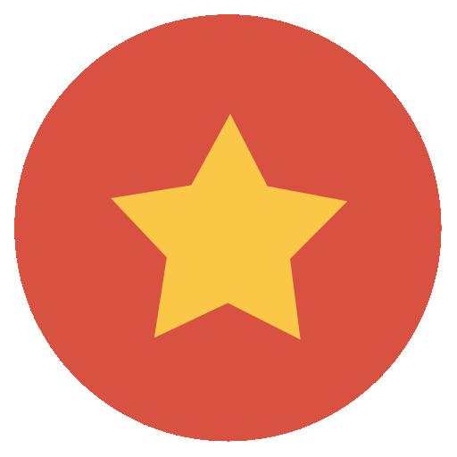 Star Icon Flat Christmas Circle Iconset Fps