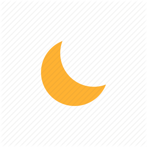 Eid, Eid Moon, Half Moon, Moon, Night, Weather Icon