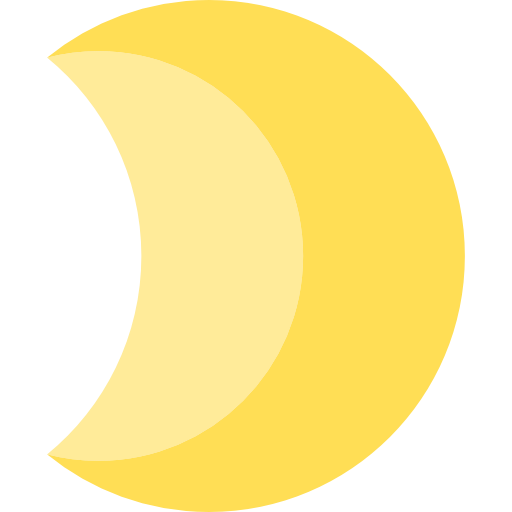 Meteorology, Nature, Moon Phase, Moon, Astronomy, Half Moon Icon