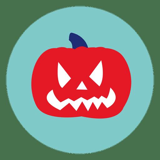 Halloween Pumpkin Circle Icon