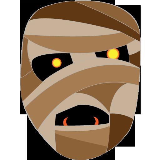 Mummy Icon Halloween Iconset Goldcoastdesignstudio