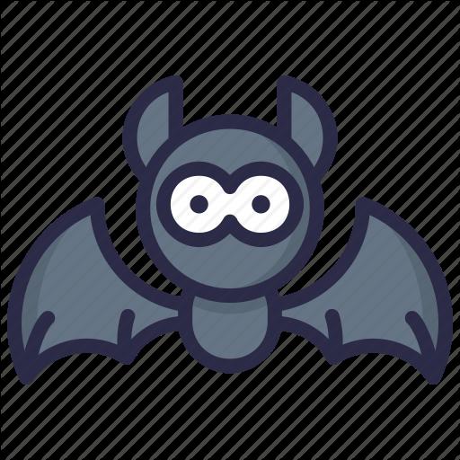 Animal, Bat, Cute, Halloween Icon