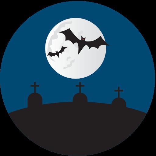 Grave Yard, Graves, Halloween Icon