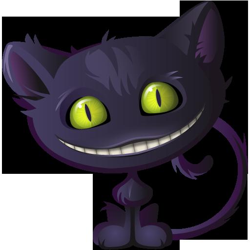 Cat, Cheshire, Halloween Icon