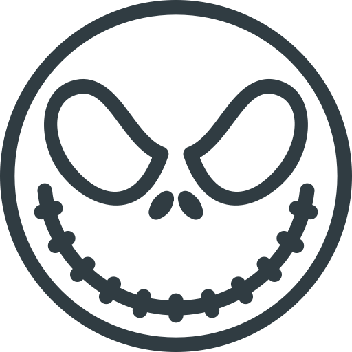 Halloween, Jack, Skellington Icon