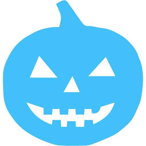 Caribbean Blue Halloween Pumpkn