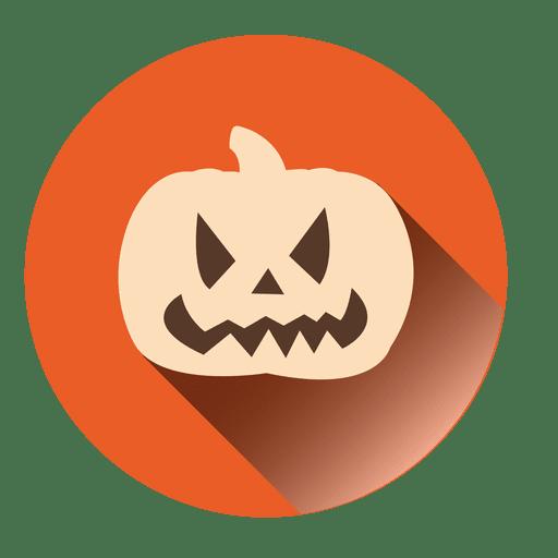 Spooky Pumpkin Round Icon