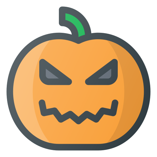 Halloween, Pumpkin, Lamp Icon