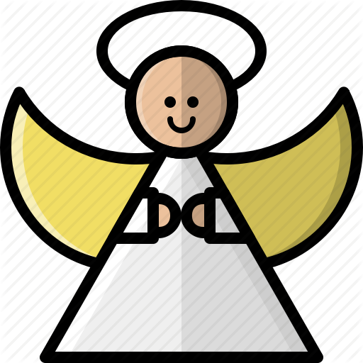 Angel, Christmas, Halo, Holidays, Saint, Tree Topper, Wings Icon