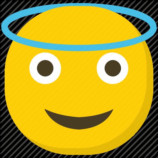 Angel Emoji, Emoticon, Facial Expressions, Halo Emoji, Smiley Icon