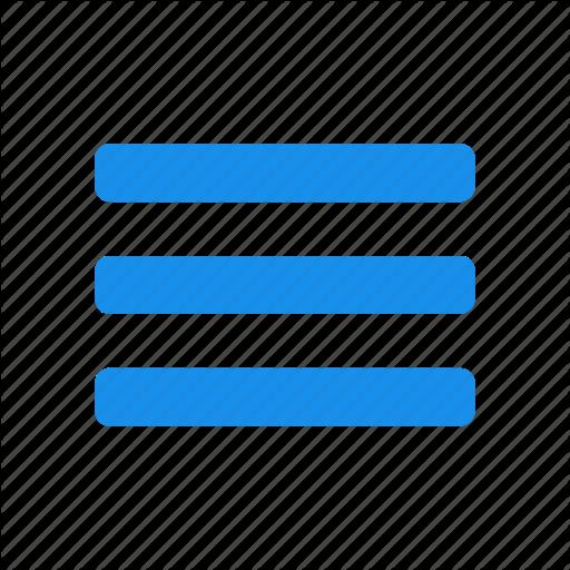 Blue, Hamburger, List, Menu, Options Icon