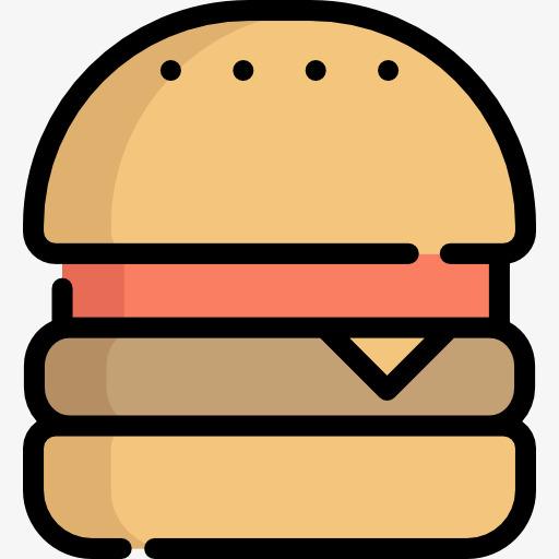 Hamburger Icon, Hamburger Clipart, Food, Icon Png Image