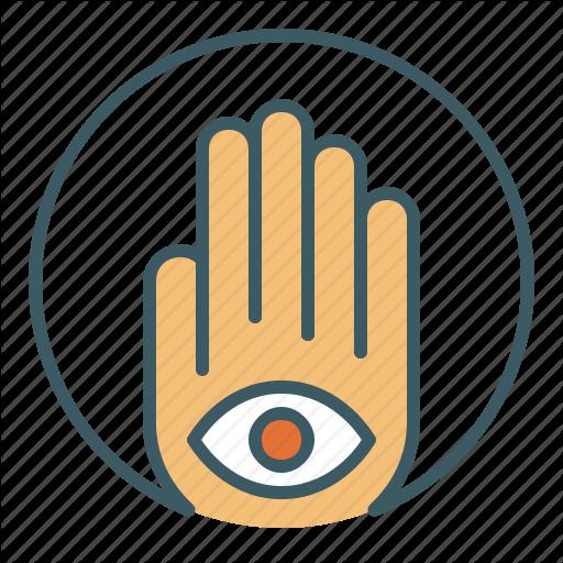 Circle, Eye, Foresight, Hamsa, Hand, Inner, Sight Icon
