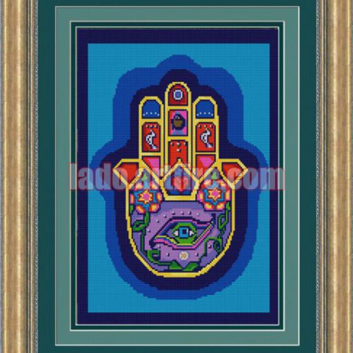 Hamsa The Hand Of God Diy Bead Embroidery Kit Beaded Painting