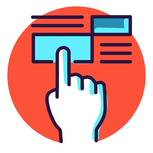 Push, Press, Click, Hand, Finger Icon Free Of Virtual Reality