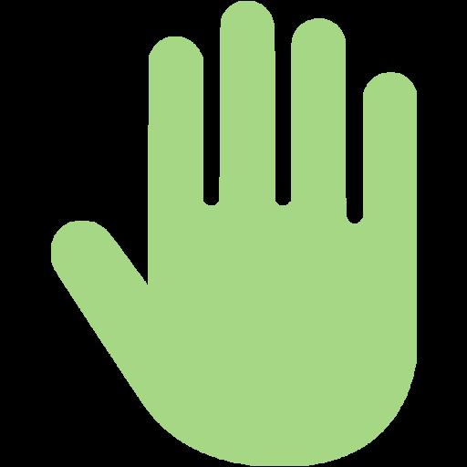 Guacamole Green Hand Cursor Icon