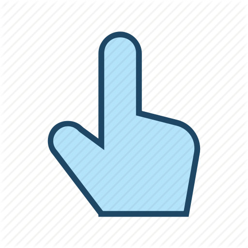 Hand Cursor, Interactive Interfave, Point Out, Responsive, Touch Icon