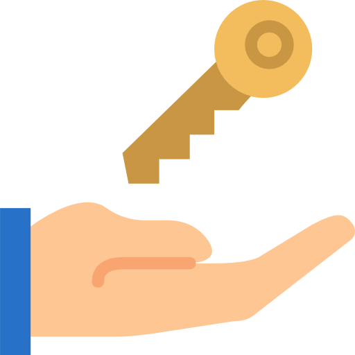 Hand With House Key Icon