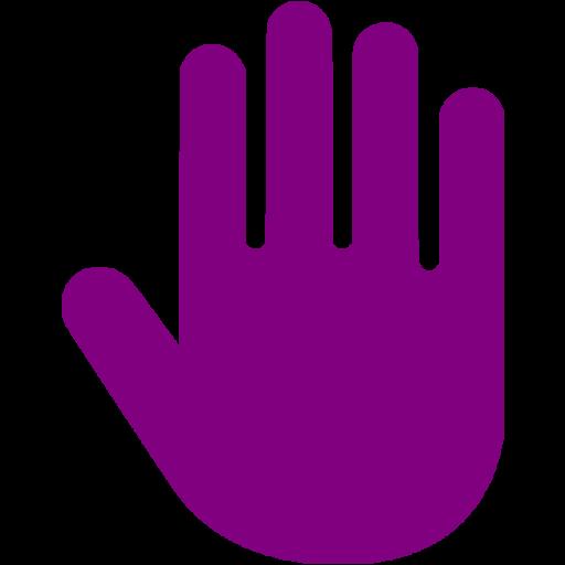 Purple Hand Cursor Icon