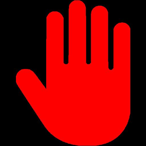 Red Hand Cursor Icon