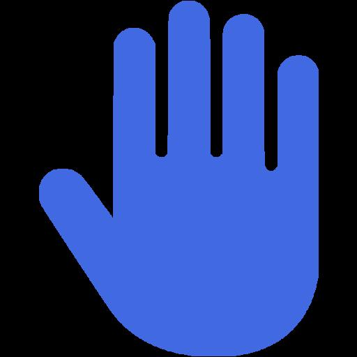 Royal Blue Hand Cursor Icon