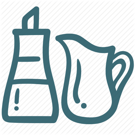 Bottle, Coffee, Hand Drawn, Ketchup, Milk, Sweet, Syrup Icon