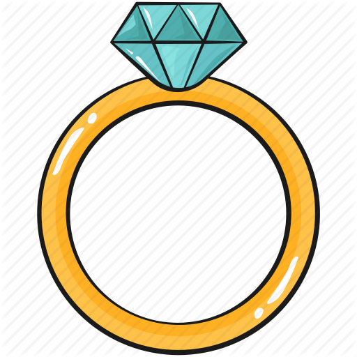 Cool, Cute, Diamond, Line, Ring, Set, Template Icon