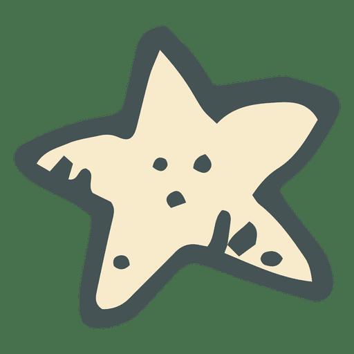 Star Hand Drawn Cartoon Icon