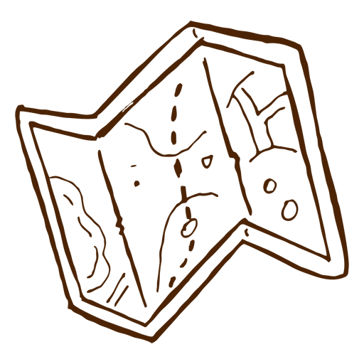 Hand Drawn Camping Map Icon