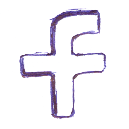 Social Media Facebook Handdrawn Icon