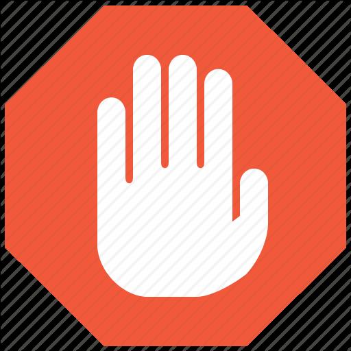 Stop, Hand, Forbidden Icon
