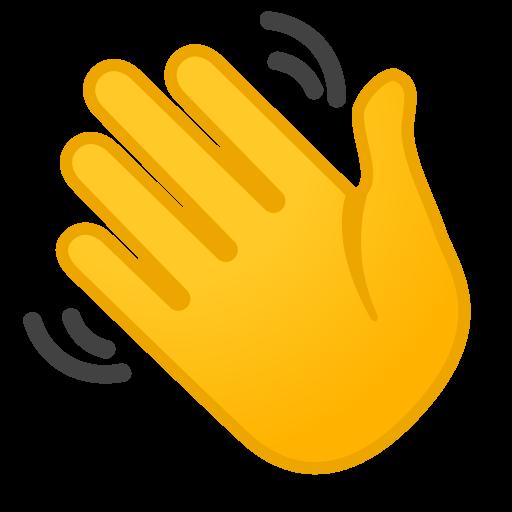 Waving Hand Icon Noto Emoji People Bodyparts Iconset Google
