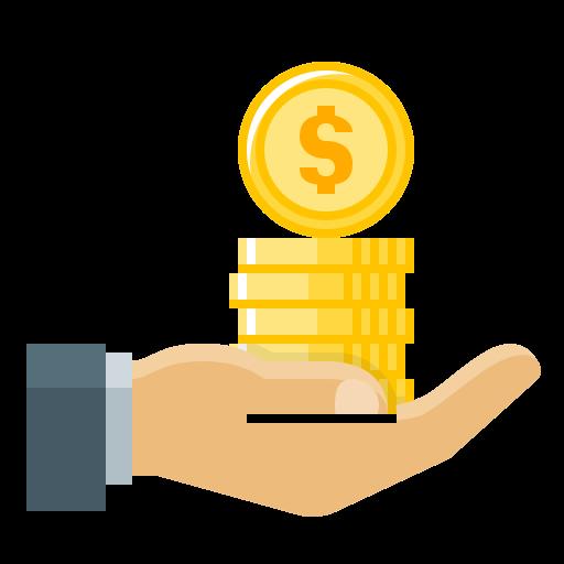 Finance, Loan, Money, Business, Dollar, Hand Icon Free