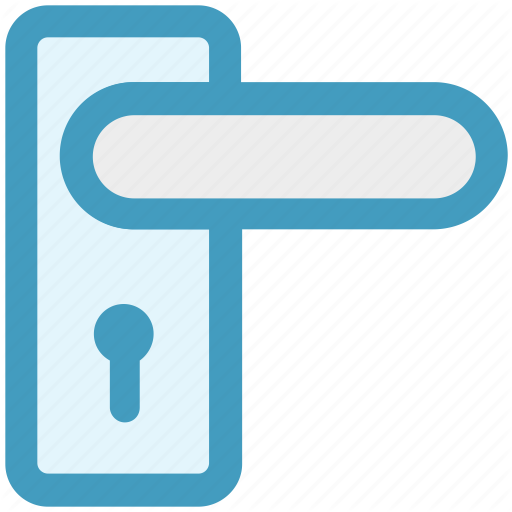 Handle, Handle Lock, Key Lock, Lock, Room Lock, Safety Icon