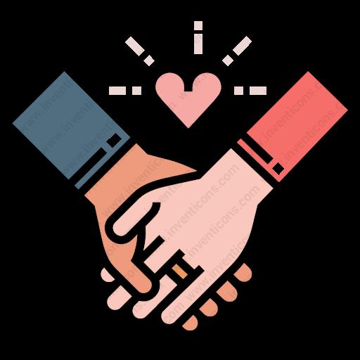 Download Couple,hands Icon Inventicons