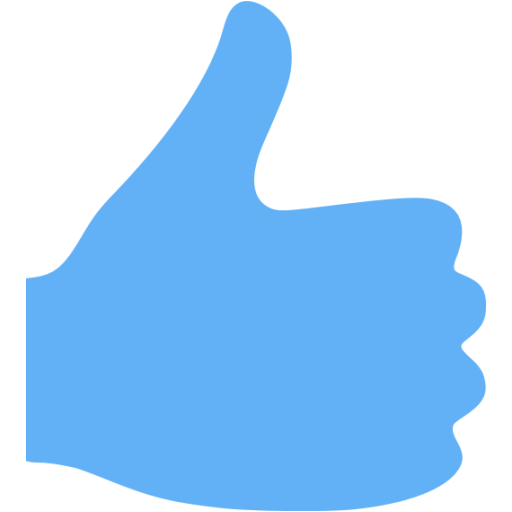 Tropical Blue Thumbs Up Icon