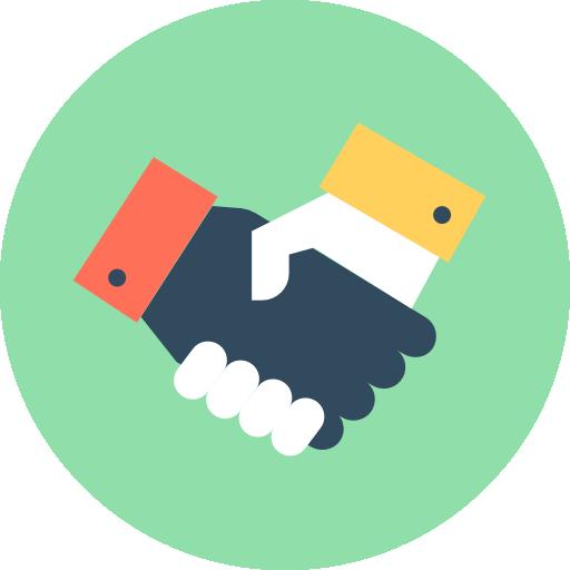 Handshake Icon Human Resources Vectors Market