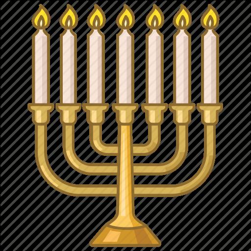 Candles, Celebration, Hanukkah, Holiday, Jewish, Judaism, Menorah Icon