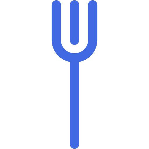 Royal Blue Fork Icon