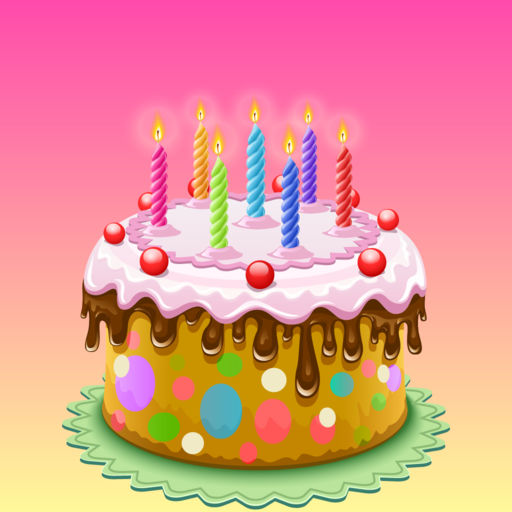 Happy Birthday Cake Sticker