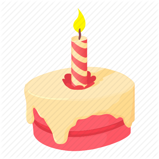 Birthday, Cake, Cartoon, Cupcake, Decoration, Fun, Meal Icon