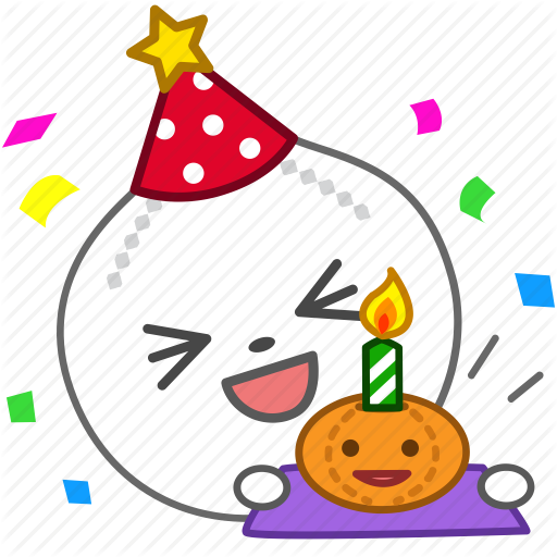 Birthday Cake Emoji Emoticon Onion Party Vegetable Icon