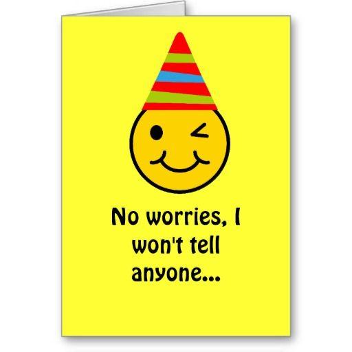 Happy Birthday Face Secret Card Funny Fun Stuff