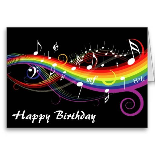 Happy Birthday Wishes In Musical Notes Happy Birthday Facebook