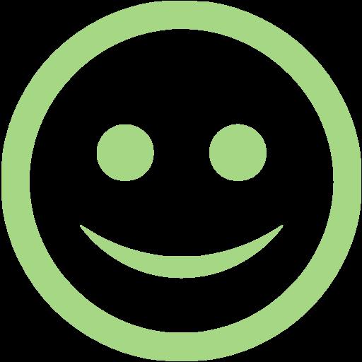 Guacamole Green Happy Icon