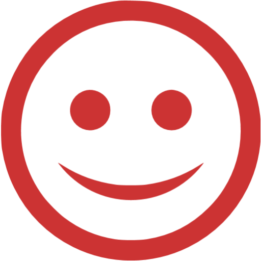 Persian Red Happy Icon
