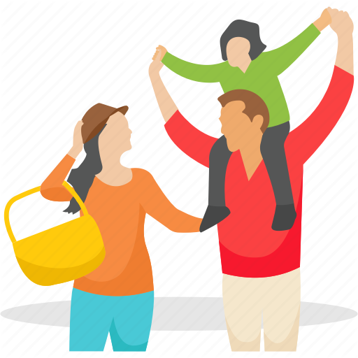 Family, Family Outing, Happy Family, Outdoor Picnic, Picnic Icon