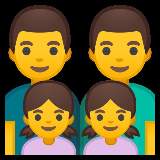 Family Man Man Girl Girl Icon Noto Emoji People Family Love